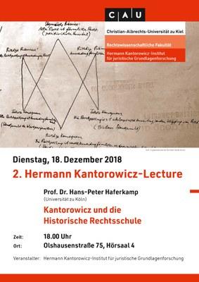 2. Herman Kantorowicz-Lecture. Dienstag, 18. Dezember 2018. Olshausenstraße 75, Hörsaal 4, 18:00 Uhr.
