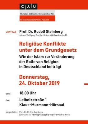 Steinberg, Religiöse Konflikte unter dem Grundgesetz - Plakat